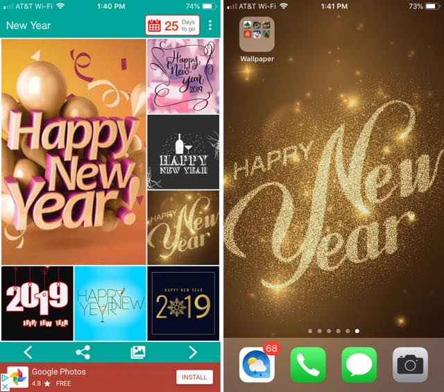 New Year HD Wallpapers! iPhone