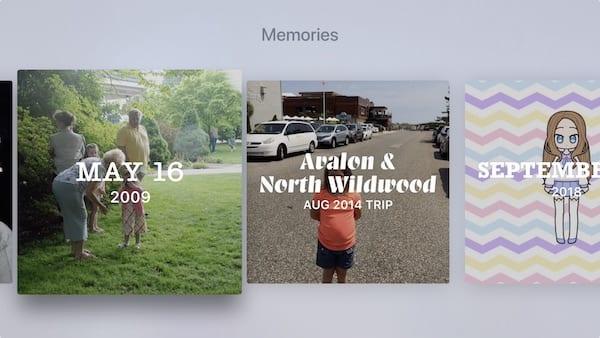 Apple TV memories