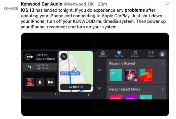 iOS 13 Carplay issues