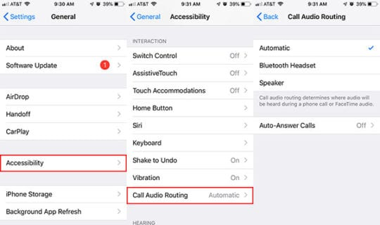 Call Audio Routing