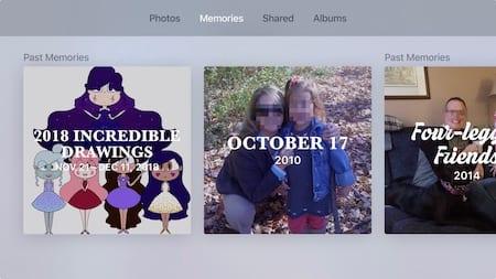 memories on Apple TV