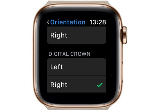 Digital Crown Selection on Apple Watch