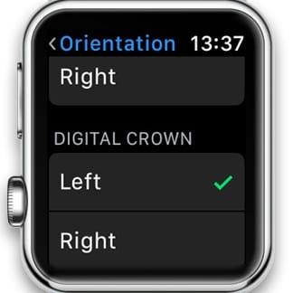 Digital Crown on Left Side of Apple Watch