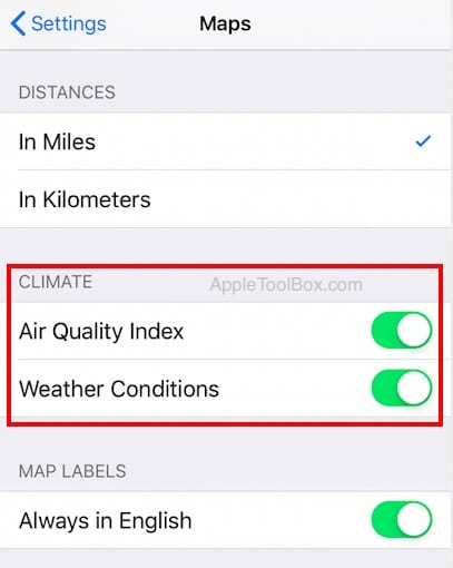 How To Check Air quality and Weather in Maps