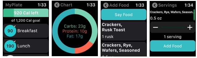 MyPlate on Apple Watch