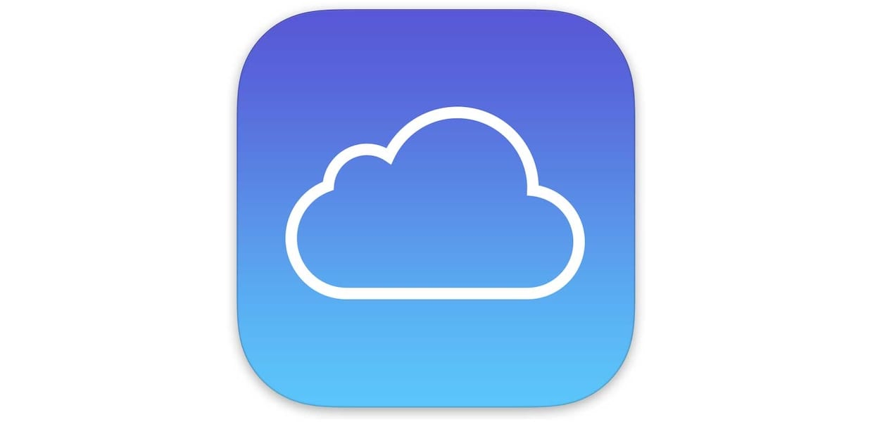 Apple's iCloud Backup Logo: The white outline of a cloud over a blue background