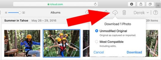 iCloud Photos Download Originals