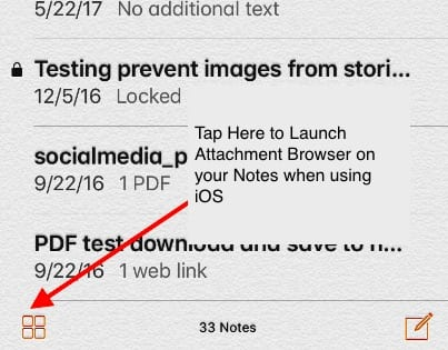 How to Browse Attachments in Notes on Your iPhone