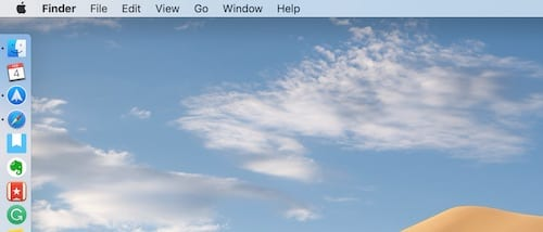 Screenshot of a Mac desktop with the Dock position on the left