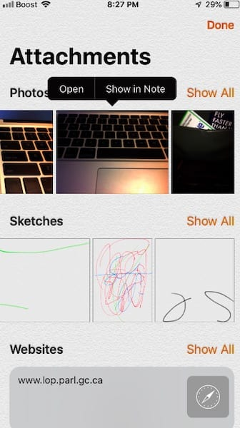 How To Find Attachments in Notes on your iPhone