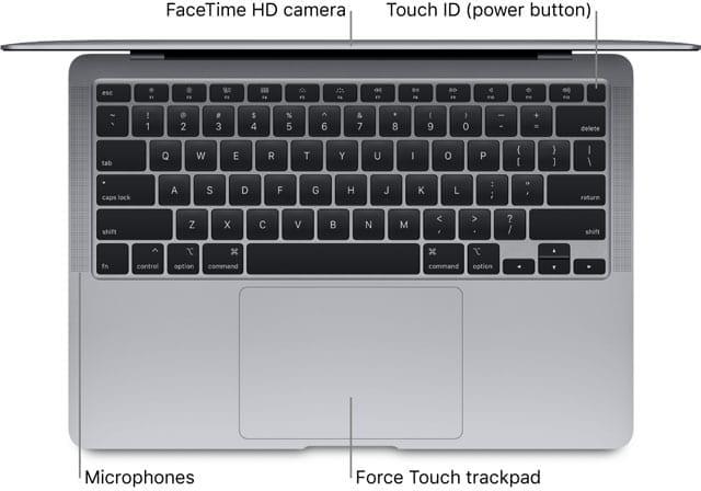 mic location on macbook