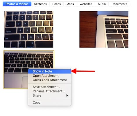How to Locate Notes Attachments on Apple devices