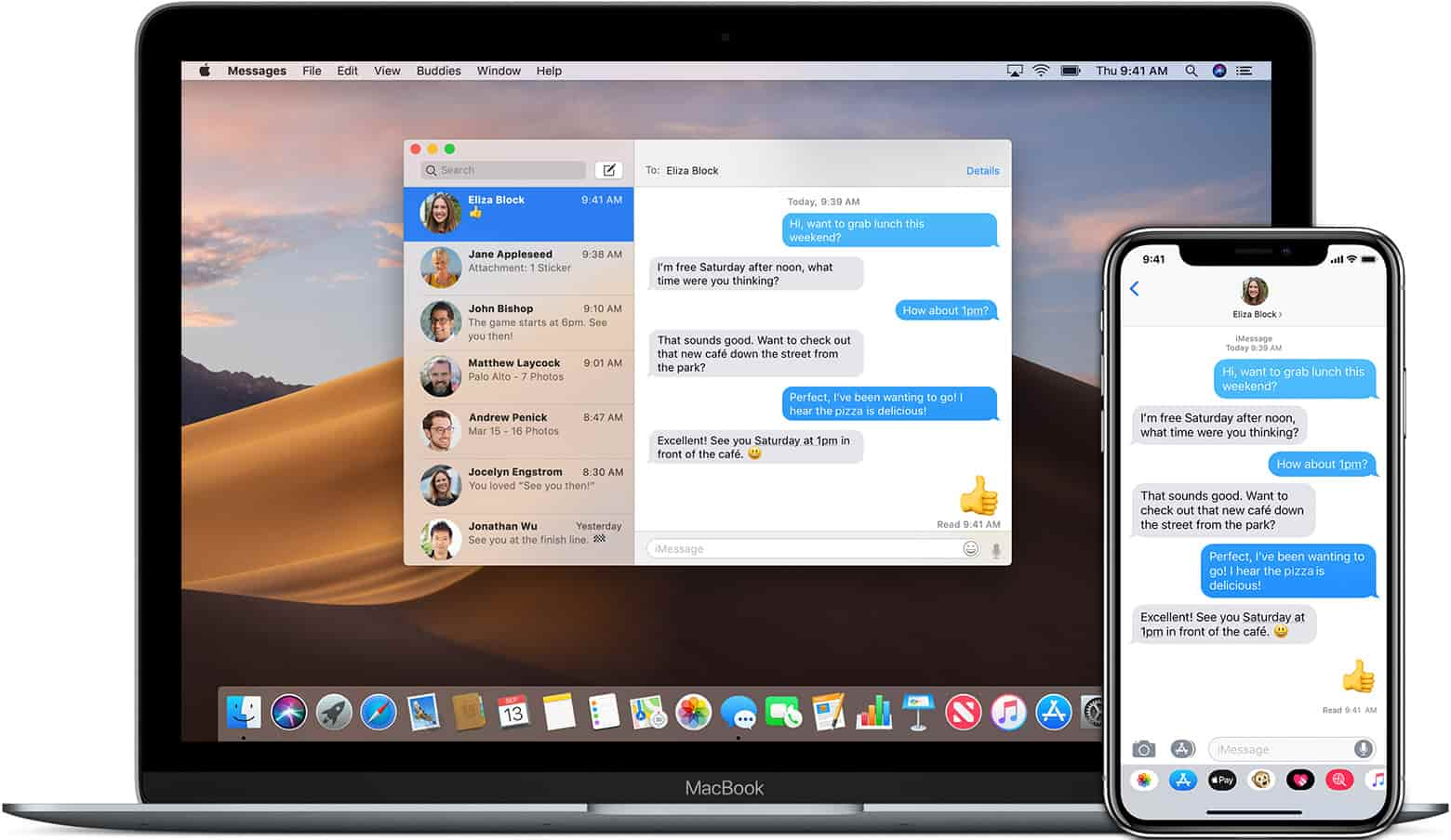 iPhone and Mac sending text messages and iMessages