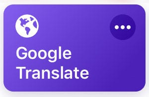 Shortcuts - Google Translate