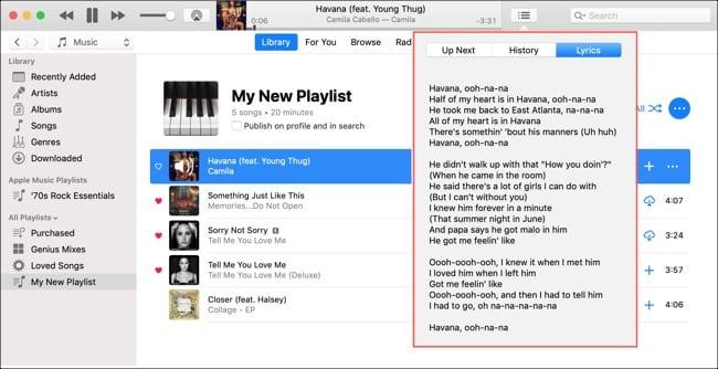 View Song Lyrics on Mac