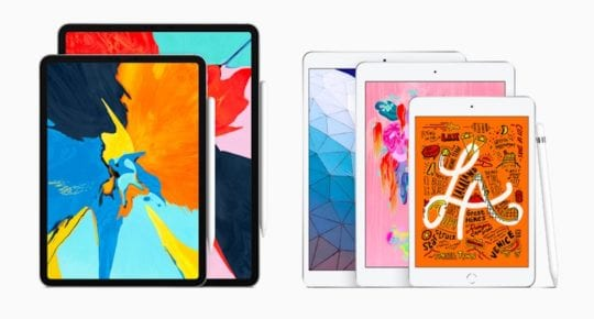 2019 iPad Air and iPad Mini