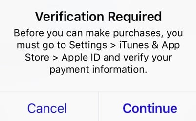 %%AppleID%% Error during payment verification
