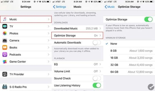 Apple Music Tips - Optimize Storage