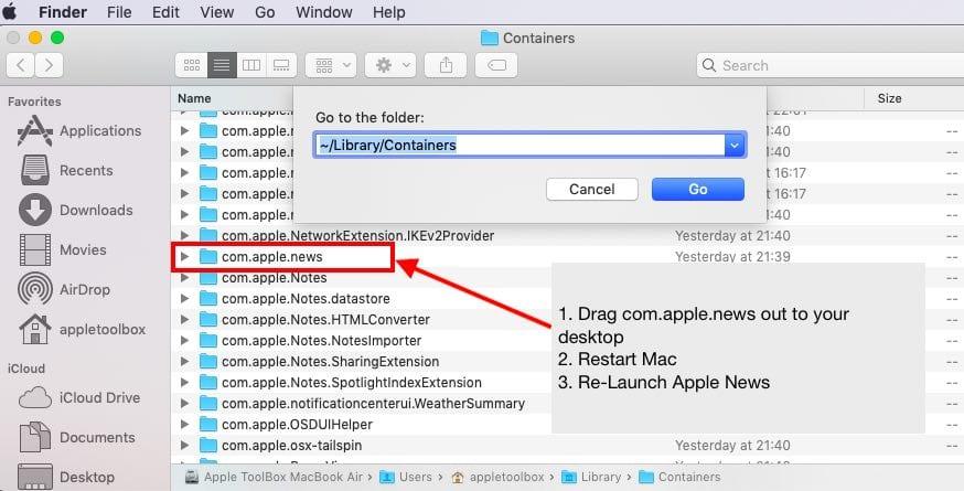 Apple News Crashing on Mac, Fix