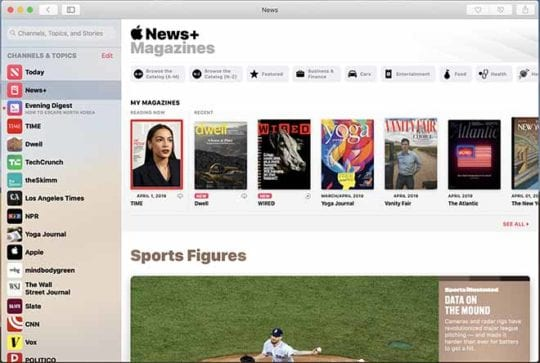Apple News+ on Mac - Home