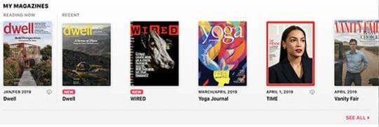 Apple News+ on Mac - My Magazines