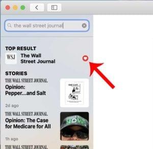 Apple News on Mac - Newspapers