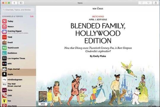 Apple News+ on Mac - Reading