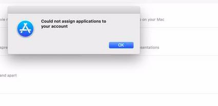 Could Not Assign Applications on MacBook