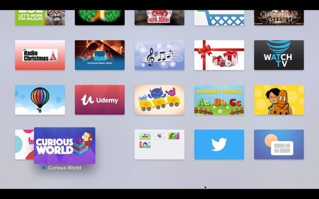 Create folder on Apple TV moving apps