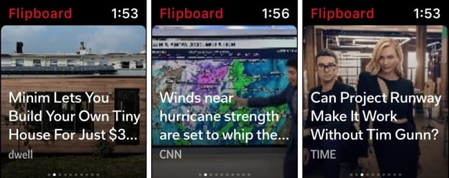 Flipboard on Apple Watch