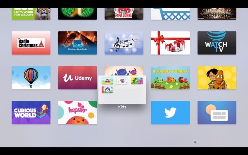Manage folders on Apple TV