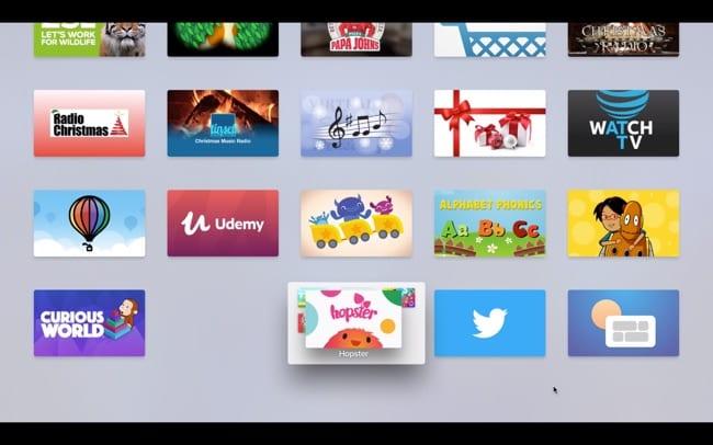 Move app to folder on Apple TV