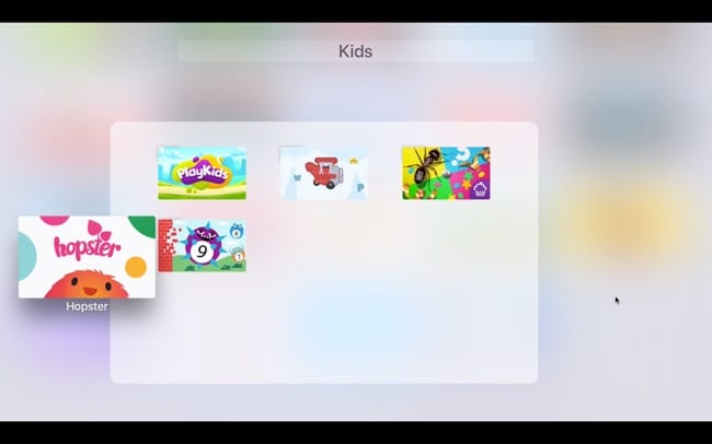 Remove apps from folder Apple TV