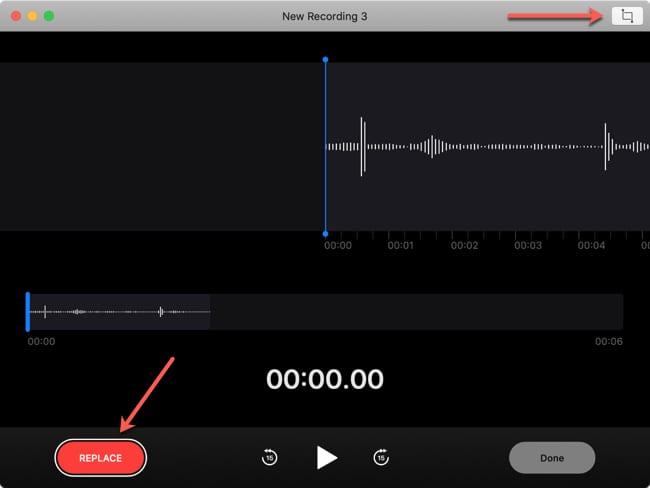 Replace Portion Voice Memos Mac