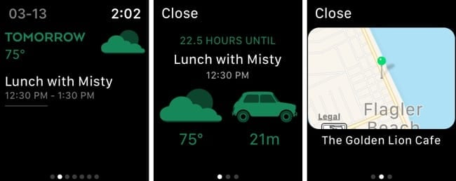 Timepage on Apple Watch