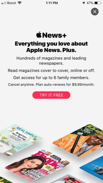 How to subscribe to Apple News Plus service