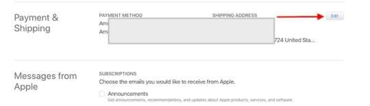 Update App Store Payment Info error