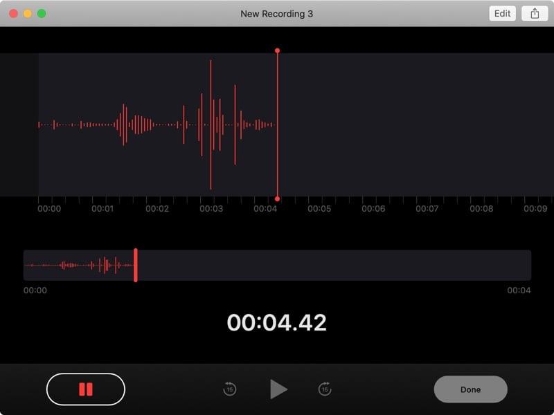 New Voice Memo Recording on Mac
