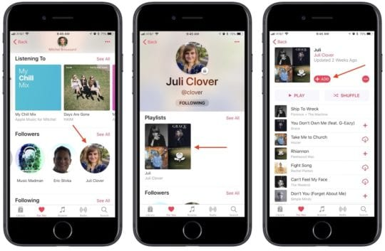 Apple Music Shortcuts - Share Profile