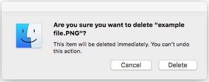 macOS File in Use - Delete Immediately
