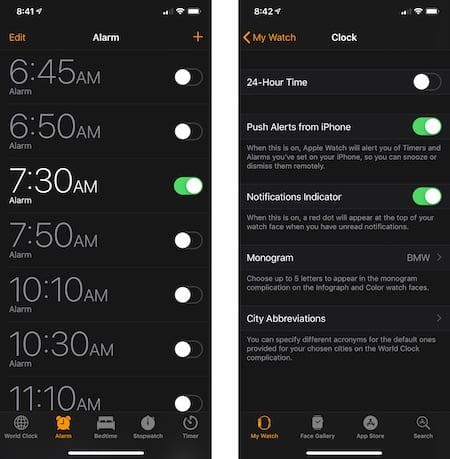 Same alerts on Apple Watch and iPhone