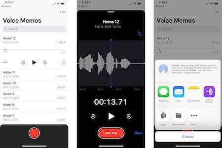 Voice Memos app