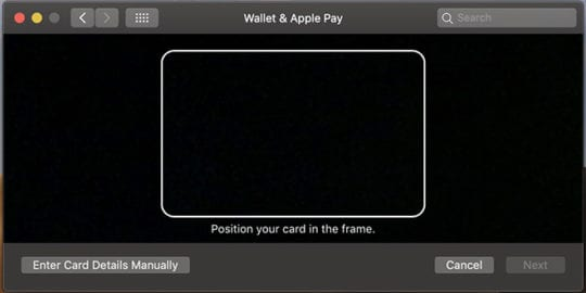 Set up Apple Pay on Mac - Touch ID