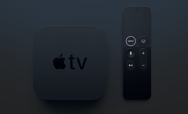 Apple TV 4K and remote.