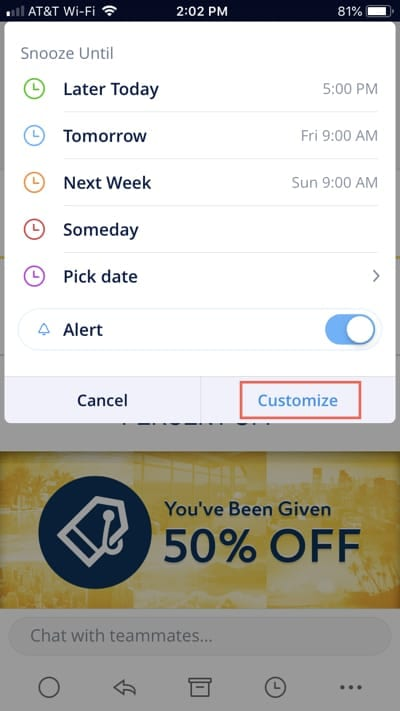 Customize Snoozes on iPhone