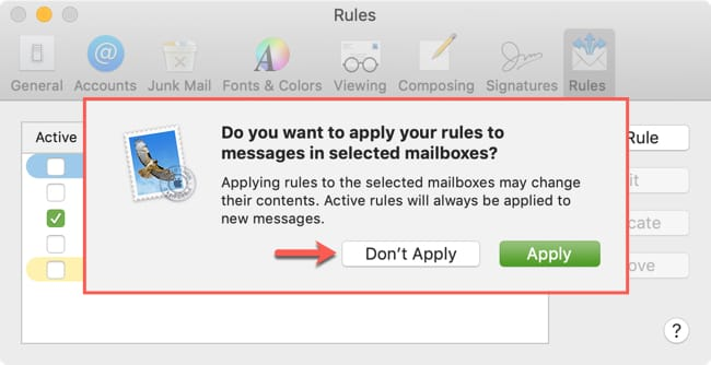 Dont Apply the Rule to your Inbox