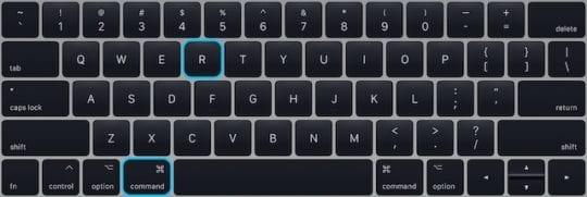 Command+R keys on MacBook keyboard.