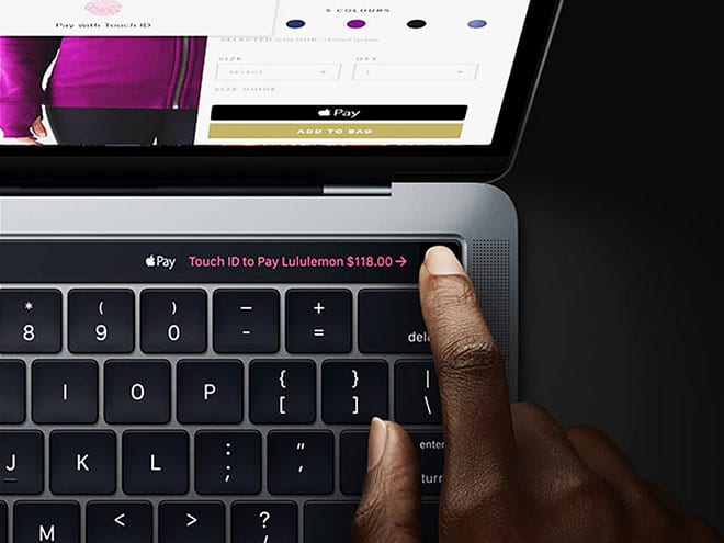 Using Apple Pay Touch ID Macs