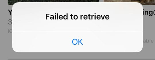 iCloud Photo Link Problems; failed to retrieve
