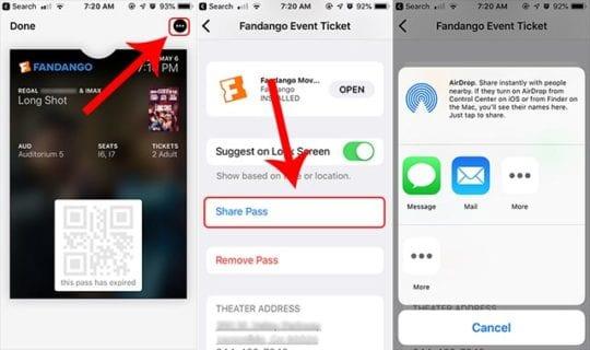 Apple Wallet Sharing Tickets